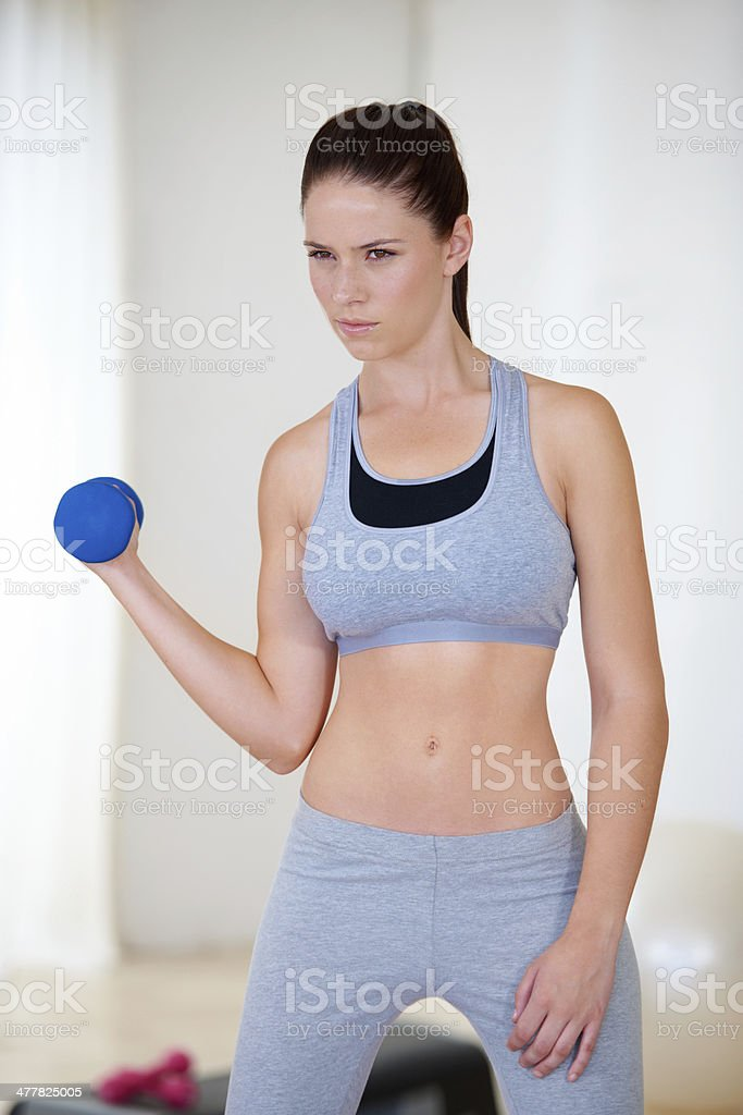 Determined to get into shape royalty-free stock photo