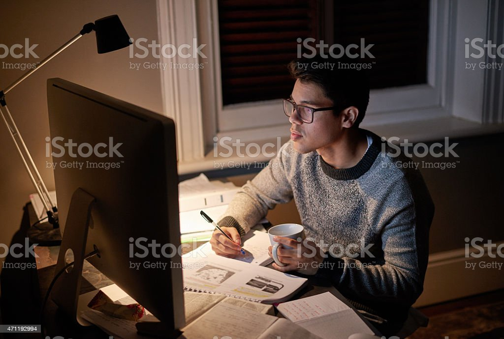 Determined to get it done stock photo