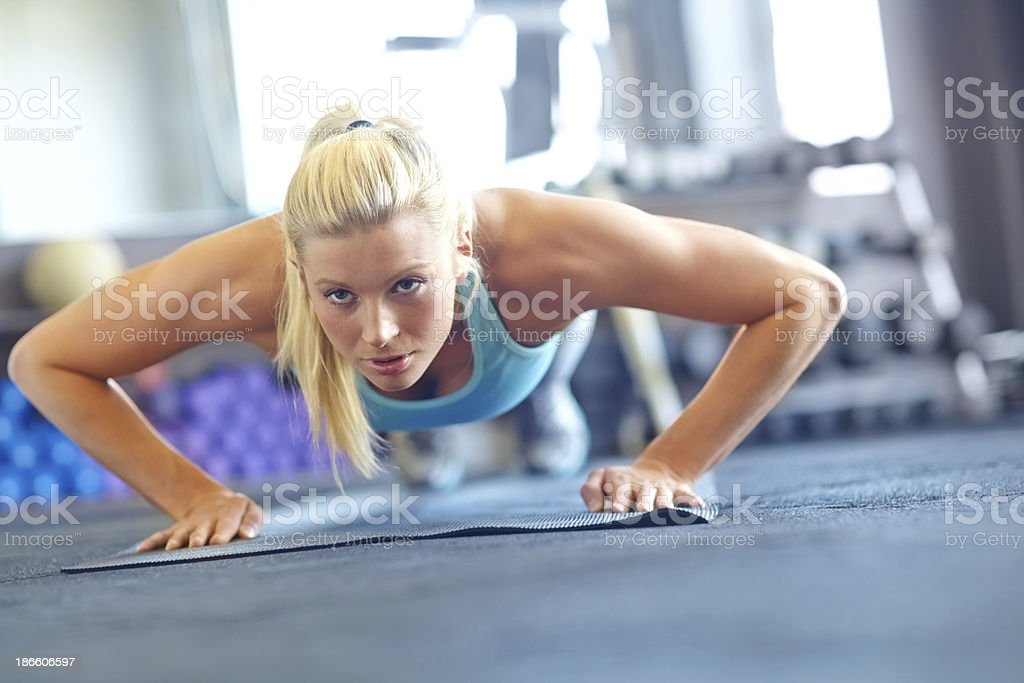 Determined to get the body I want royalty-free stock photo