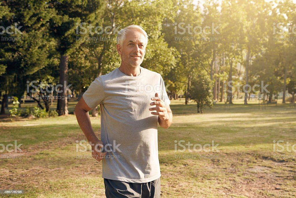 Determined to stay in shape stock photo