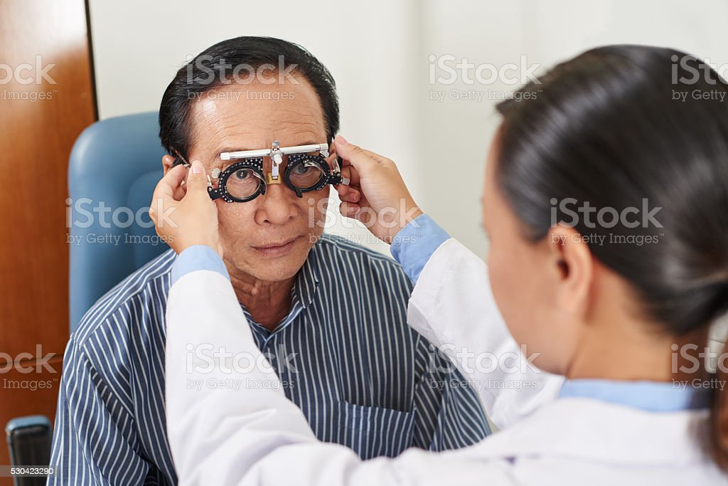 Determining diopter stock photo