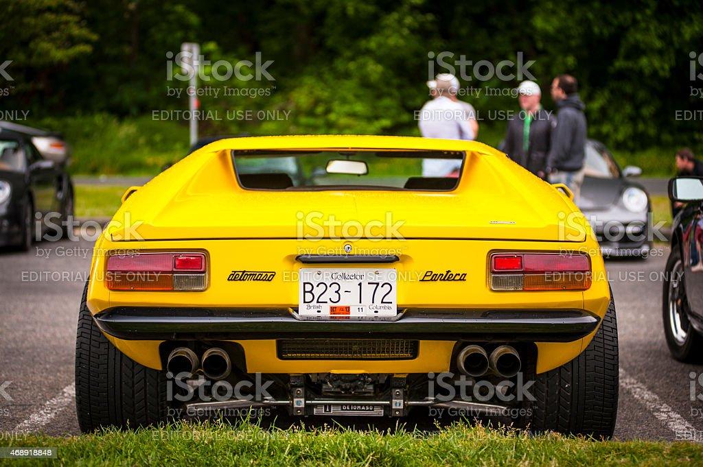 DeTomaso Pantera classic sports car. stock photo