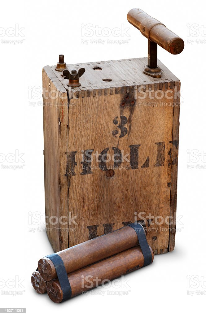 Detonator & Dynamite stock photo