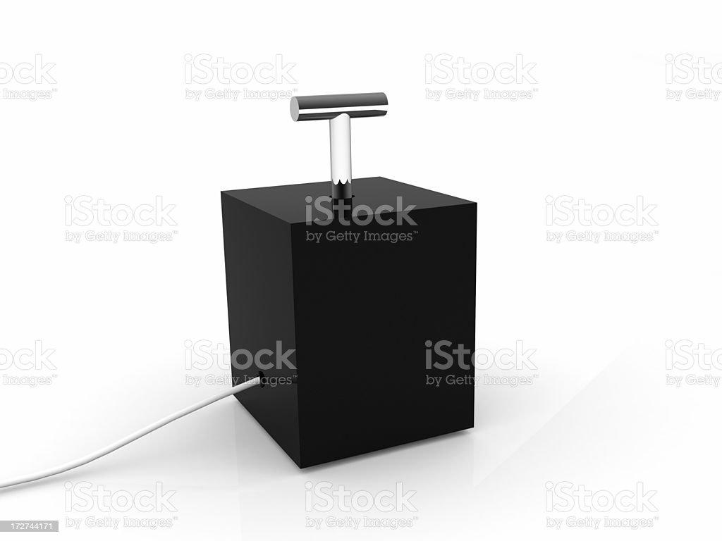 Detonator royalty-free stock photo