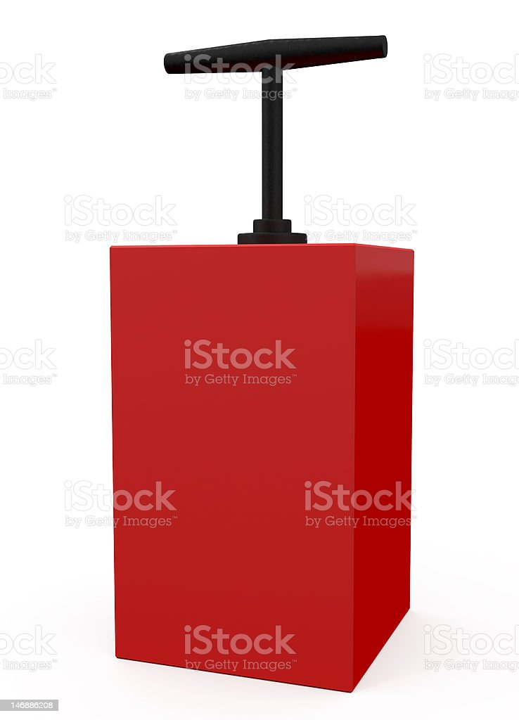 Detonator Red isolated on white stock photo