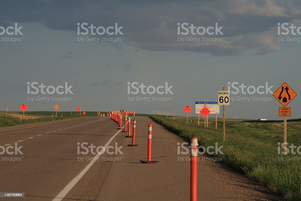 Detour Ahead stock photo