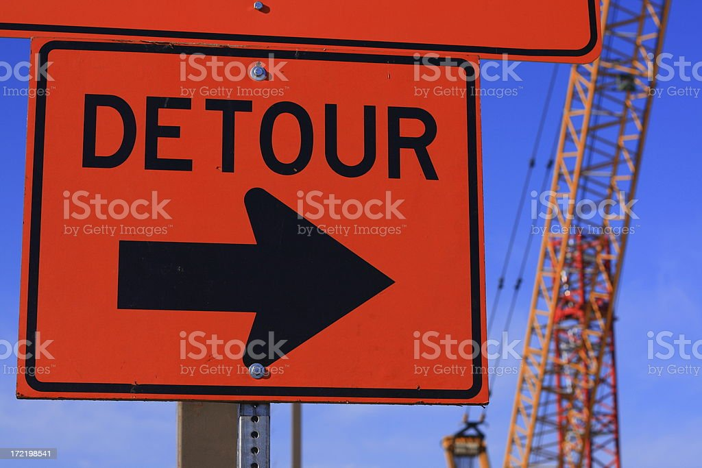Detour stock photo
