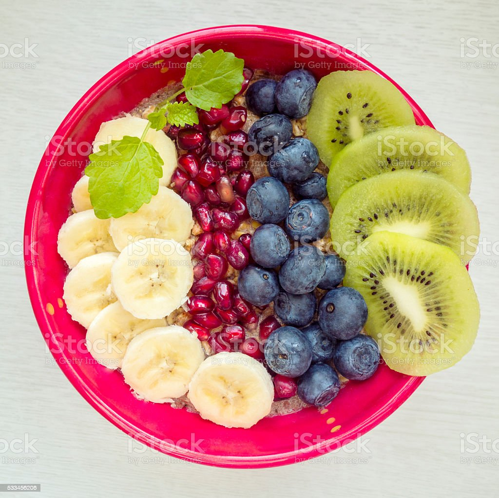 Detox breakfast bowl stock photo