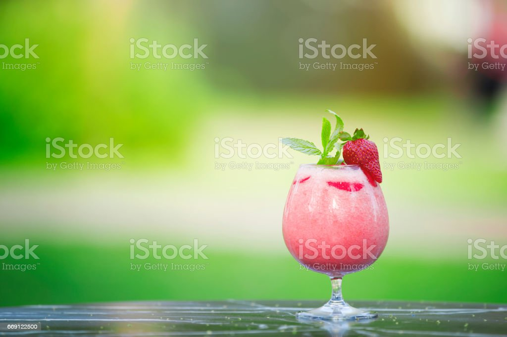 Detox smoothie drinks stock photo