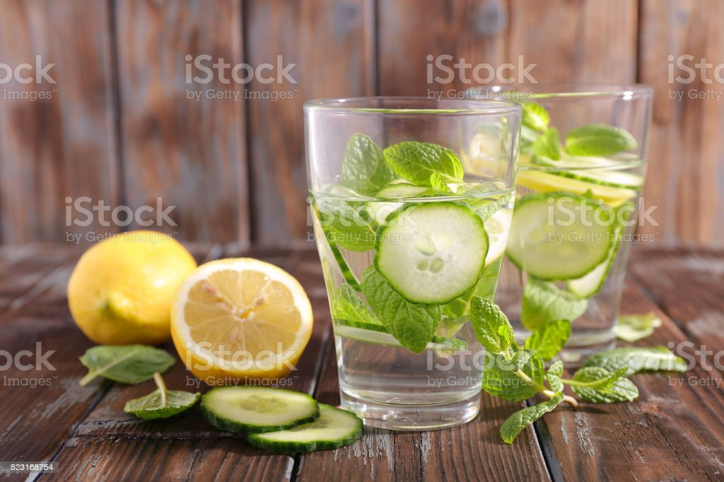 detox water infused stock photo