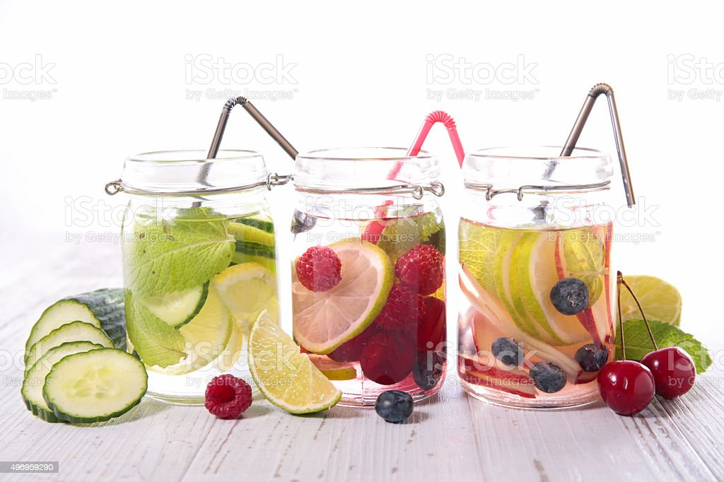 detox water stock photo