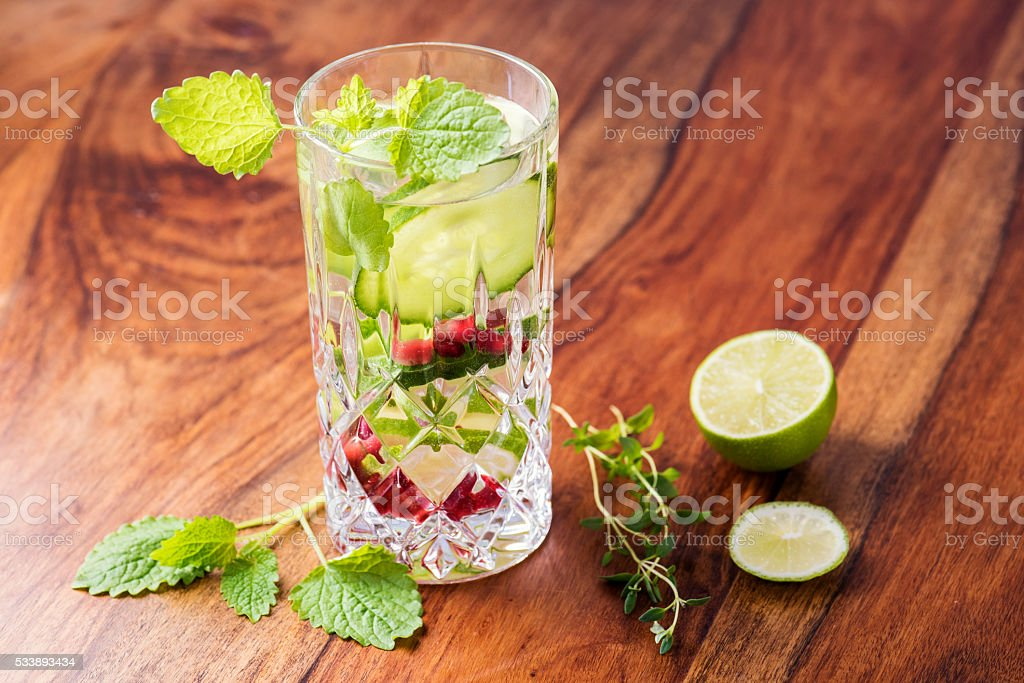 Detox your Body with Infused Water! stock photo
