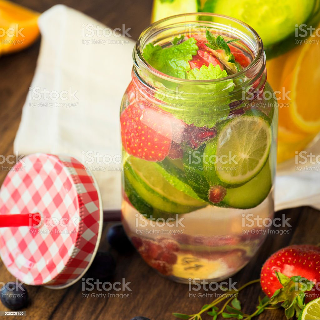 Detox Your Body with Infused Water stock photo