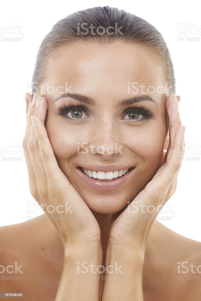 Detoxing did her skin a world of good royalty-free stock photo