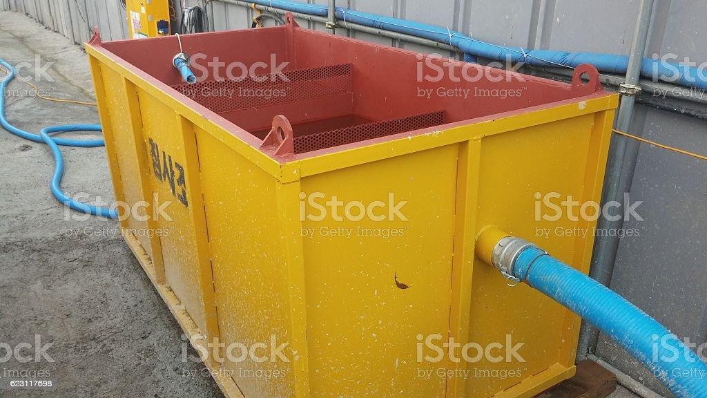 detritus tank stock photo