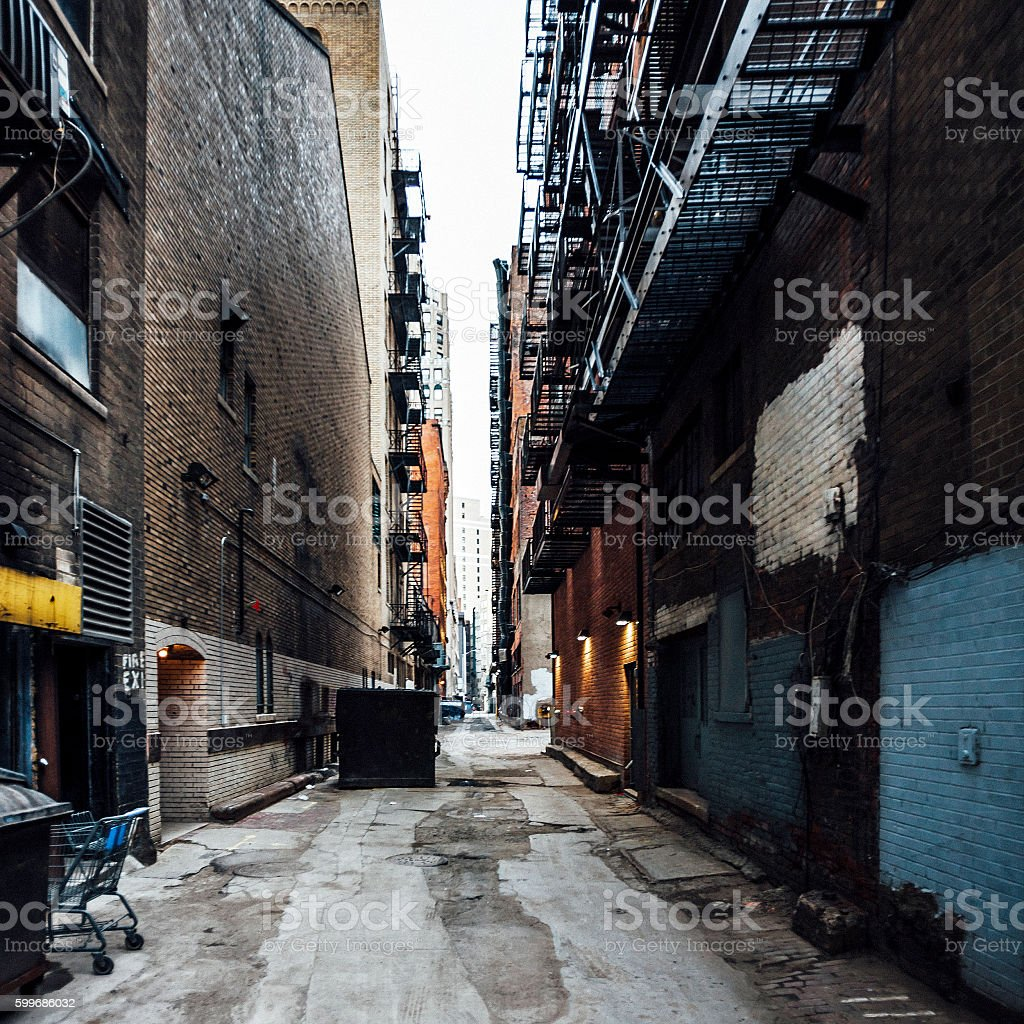 Detroit alleys. stock photo