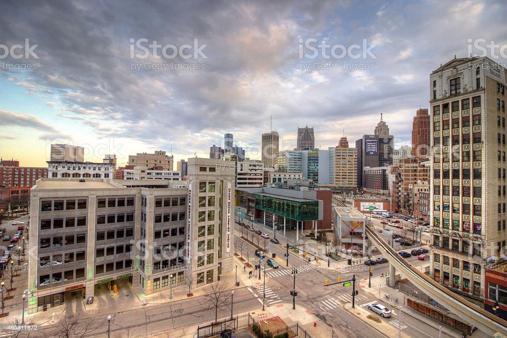 Detroit City Scape stock photo