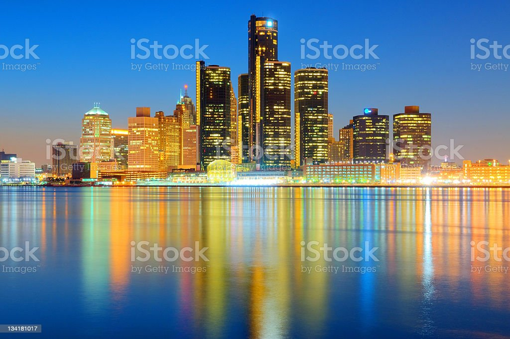 Detroit Cityscape / Skyline royalty-free stock photo