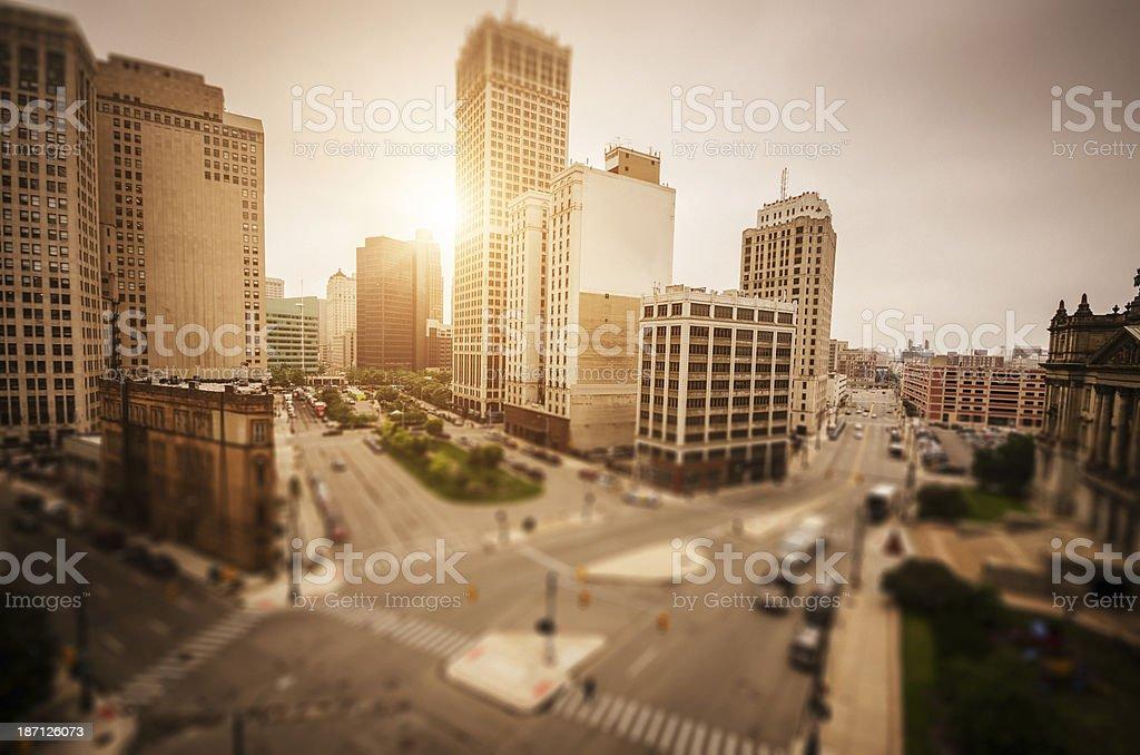 Detroit downtown stock photo