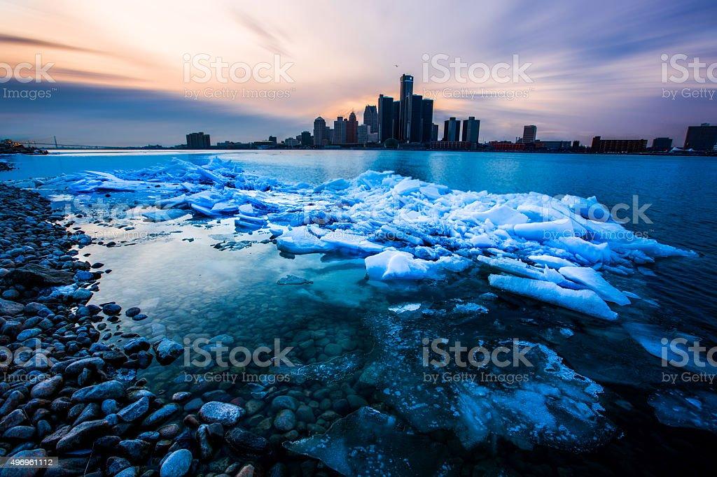 Detroit ice stock photo