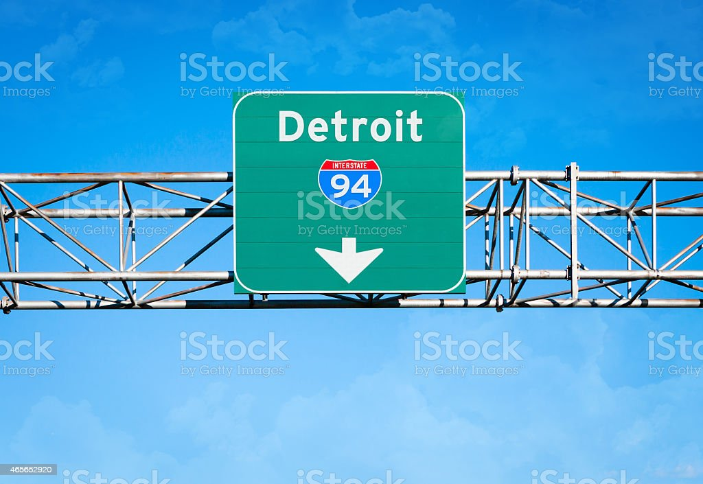Detroit Interstate 94 Sign stock photo