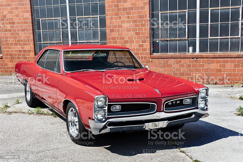 Detroit Muscle Car Pontiac GTO royalty-free stock photo