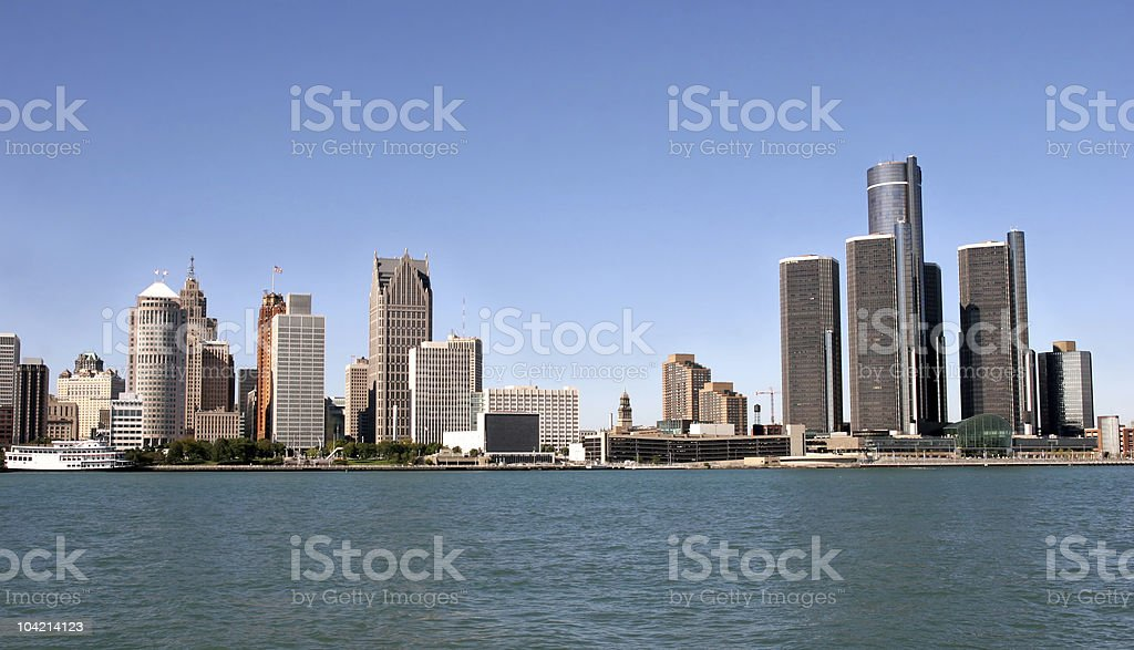 Detroit royalty-free stock photo