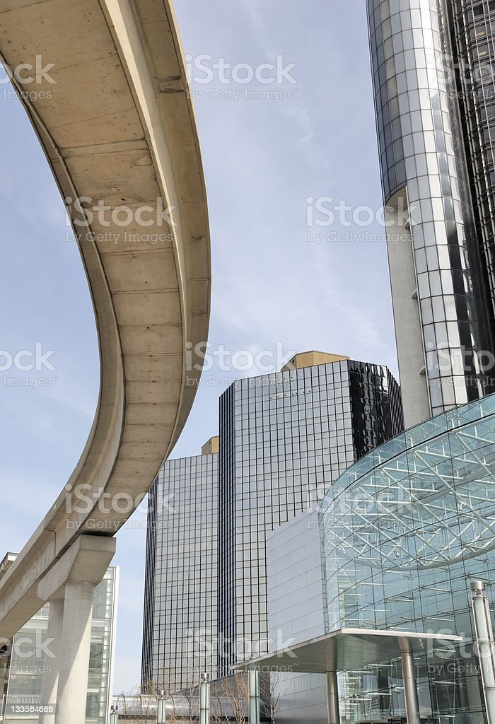 Detroit Renaissance Center royalty-free stock photo
