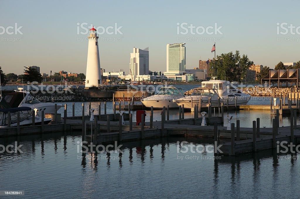 Detroit Riverfont stock photo