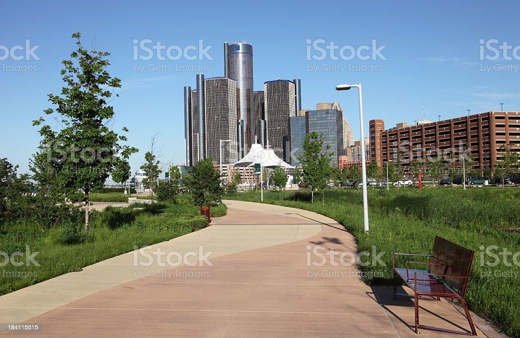Detroit Riverfront stock photo