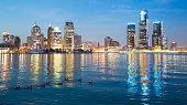 Detroit Skyline during evening