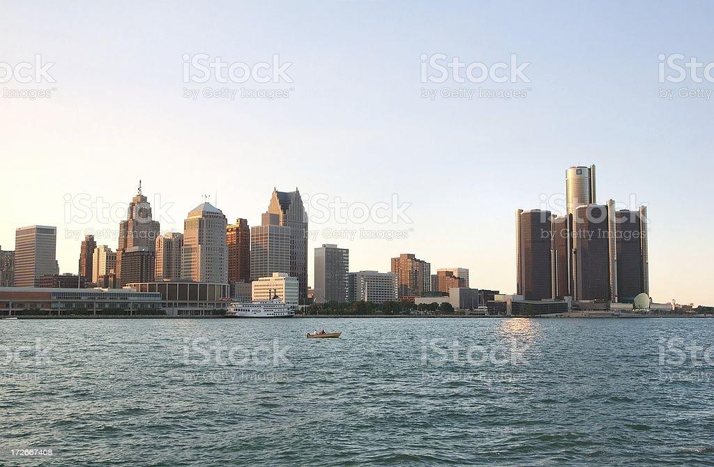 Detroit Skyline royalty-free stock photo