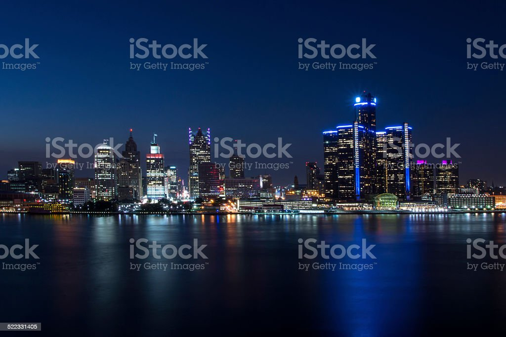 Detroit Skyline stock photo
