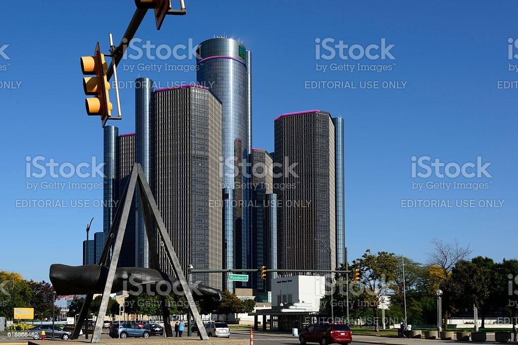 Detroit Street Scene stock photo