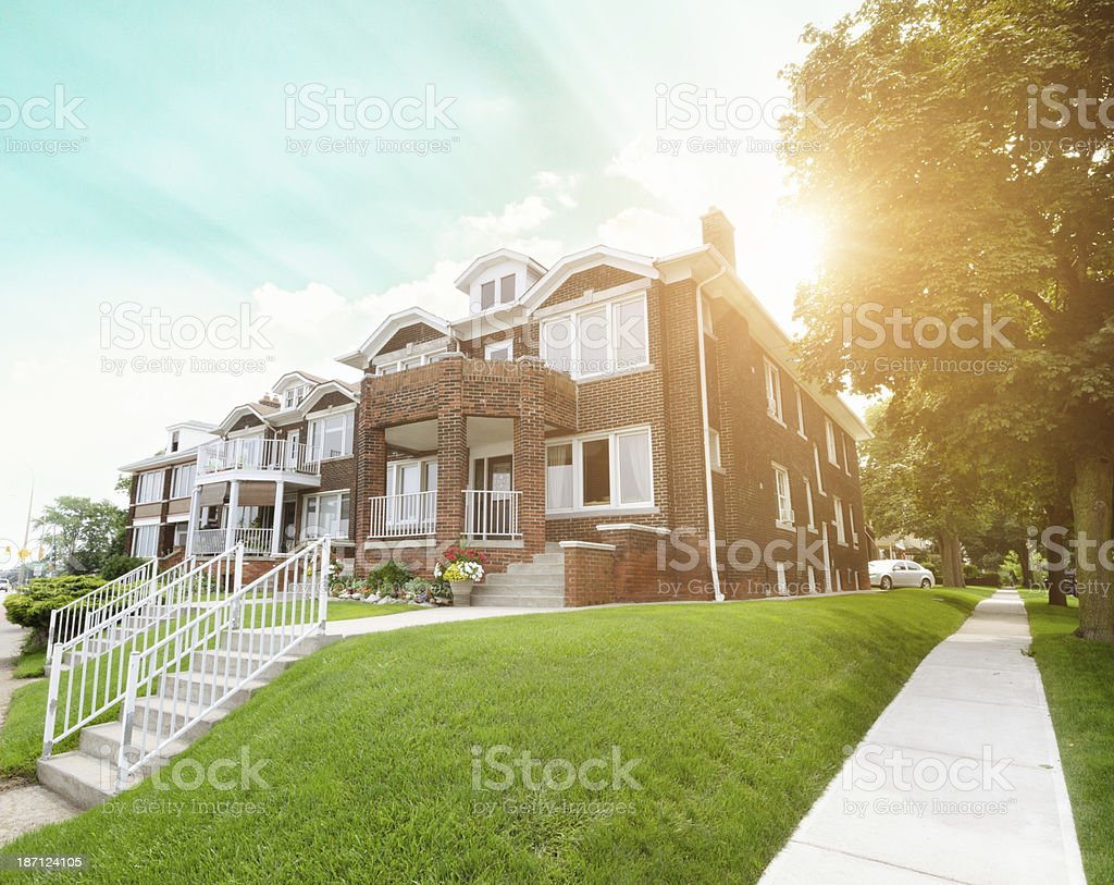 detroit suburb area stock photo