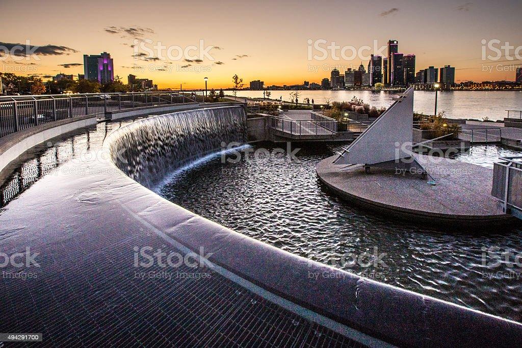 Detroit Waterfront stock photo