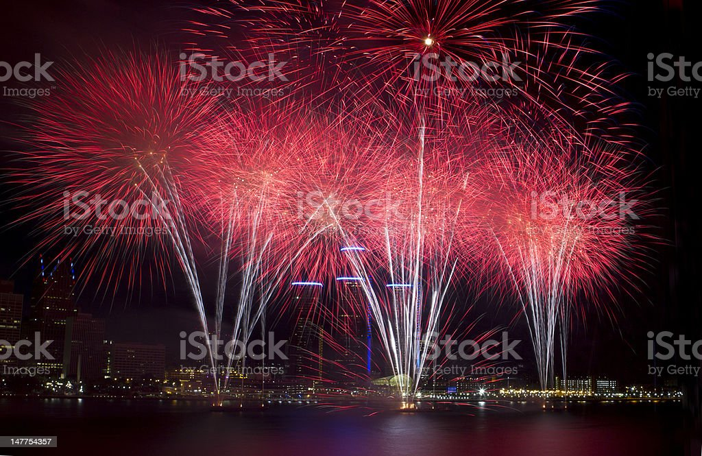 Detroit's 54th Annual Firework Celebration royalty-free stock photo