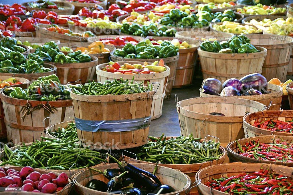 Detroit's Eastern Market produce stock photo