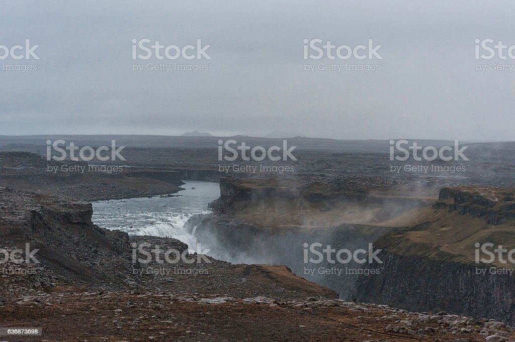 Dettifoss Waterfall in Iceland. stock photo