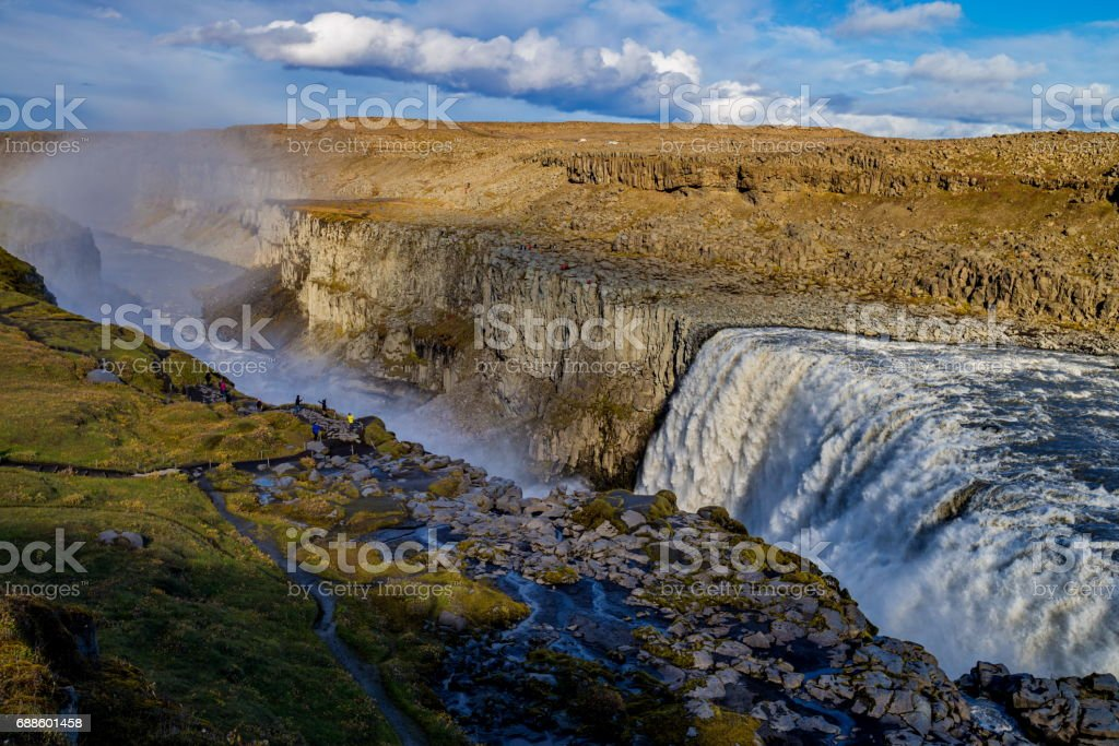 Dettifoss waterfall in Iceland stock photo