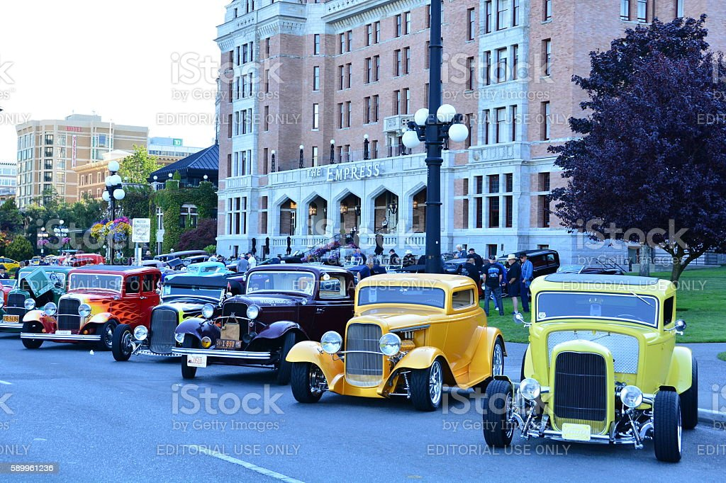 Deuce days classic car show stock photo
