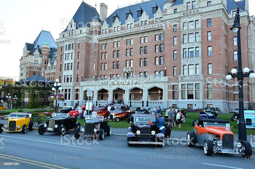 Deuce Days in Victoria BC stock photo