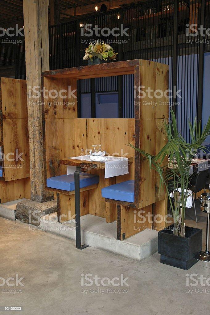 Deuce in a funky Toronto restaurant stock photo
