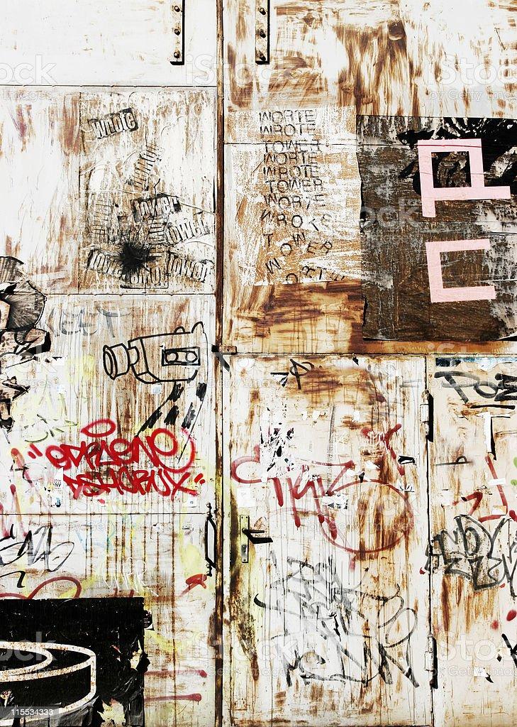 Deutsch Graffiti royalty-free stock photo