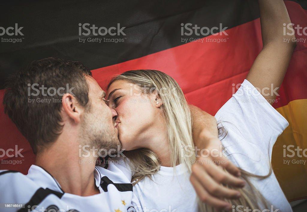 deutsch supporter at the stadium royalty-free stock photo