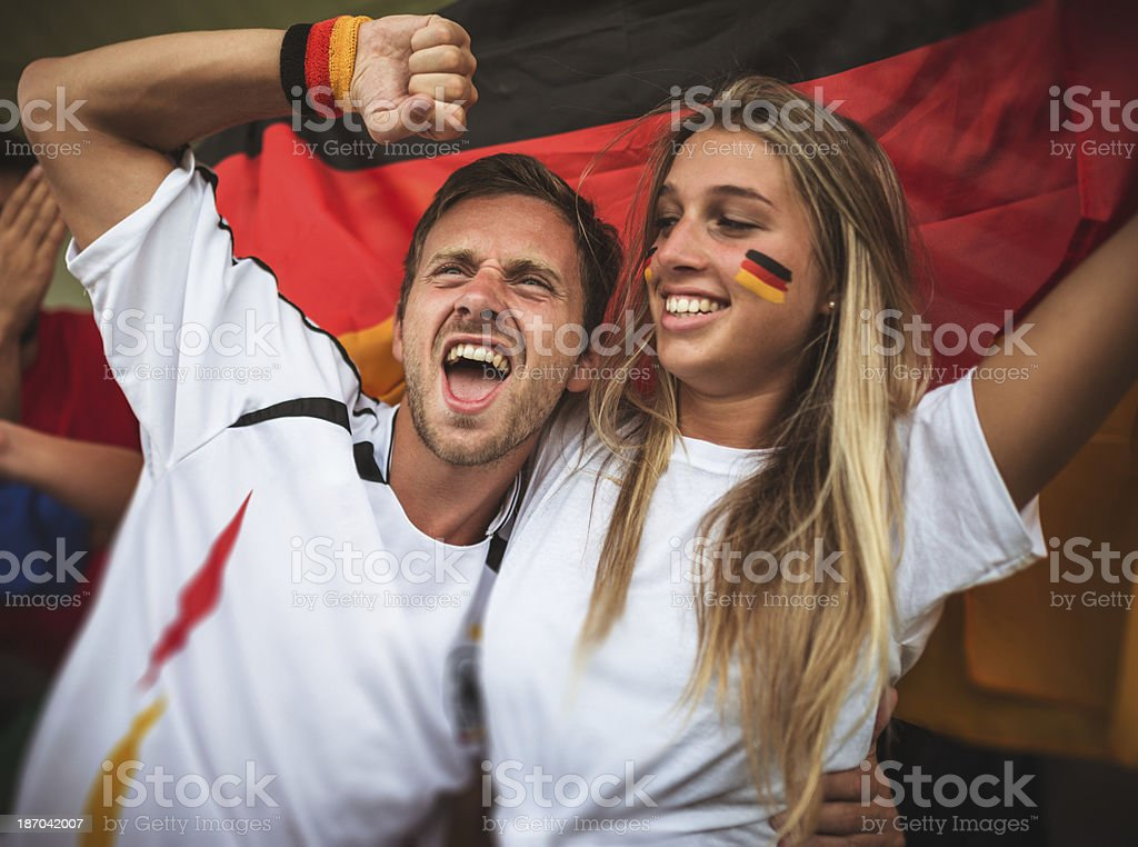 deutsch supporter at the stadium royalty-free stock photo