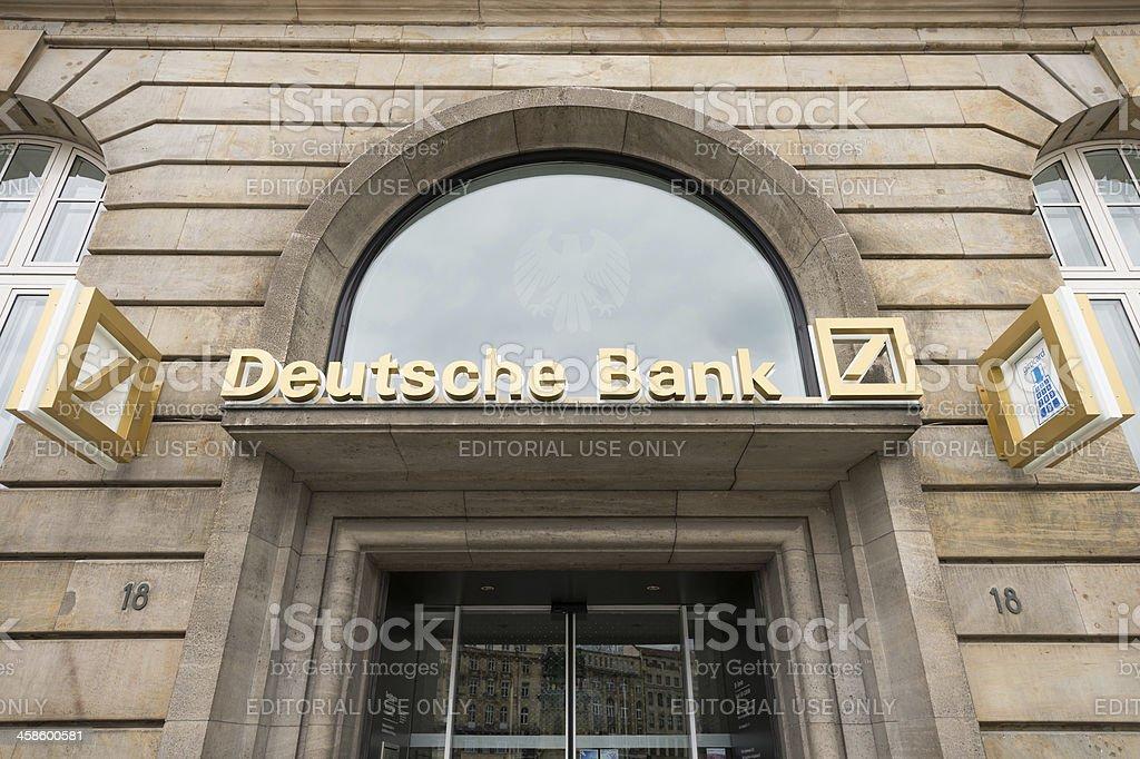 Deutsche Bank AG branch in Frankfurt, Germany stock photo