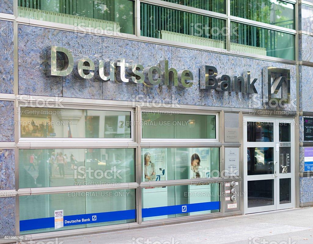 Deutsche bank branch in Berlin stock photo