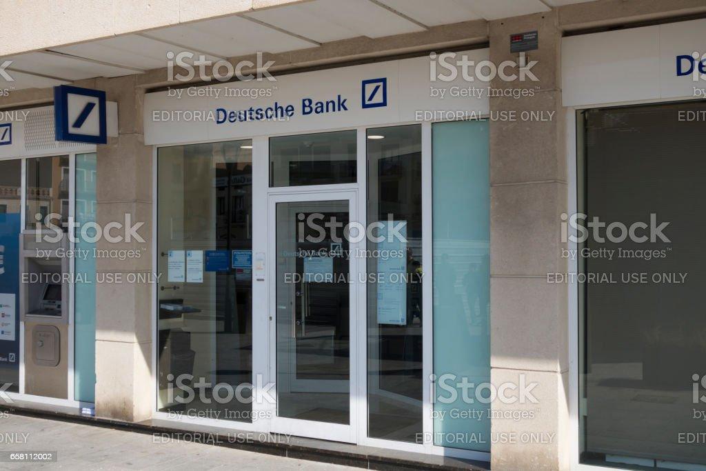 Deutsche bank branch office stock photo