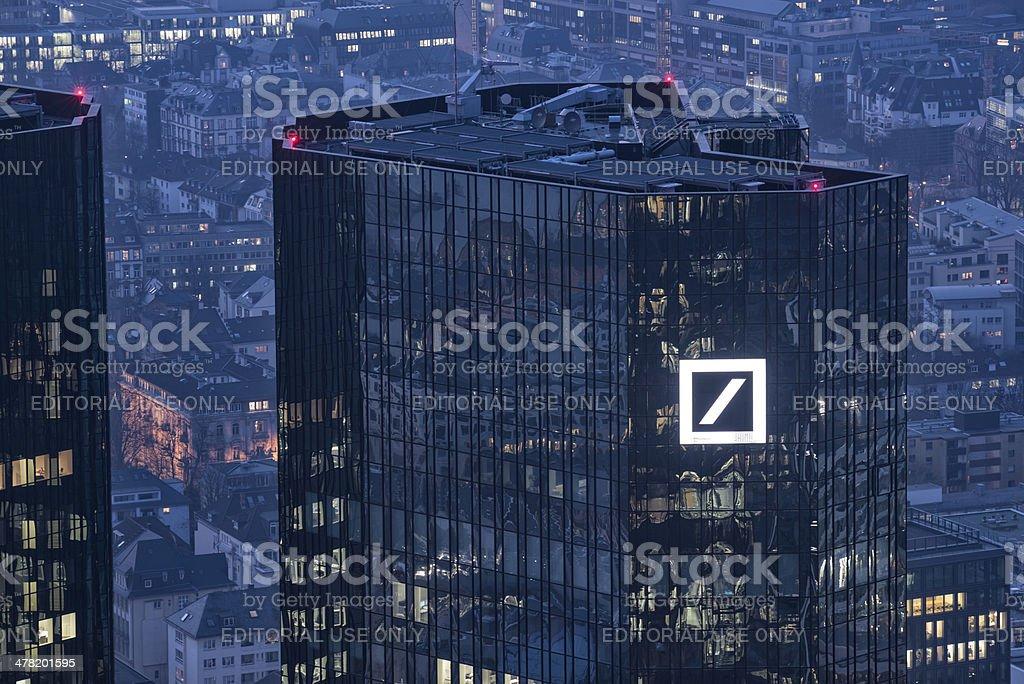 Deutsche Bank Building Frankfurt Germany stock photo